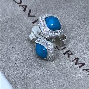 David Yurman albion diamond turquoise earrings
